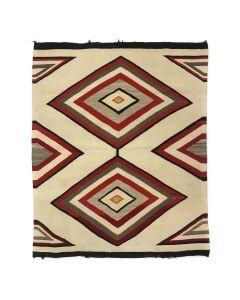 """Navajo Crystal Rug c. 1920s, 44.5"""" x 37"""" (T92323A-1020-012)"""