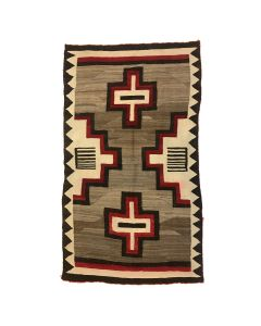 "Navajo Ganado Rug with Cross Design c. 1910s, 89.5"" x 54.5"" (T92323A-1020-024)"