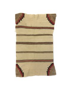 "Navajo Double Saddle Blanket c. 1920s, 44"" x 27"""