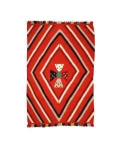 "Navajo Germantown Blanket with Four Directions Cross Design c. 1890s, 84"" x 60.5"" (T92336-0821-003)"