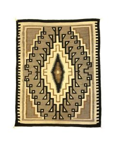 "Navajo Two Grey Hills Rug c. 1930s, 96"" x 75"" (T92337A-1219-002)"