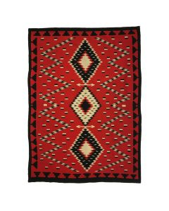 "Navajo Germantown Blanket c. 1890s, 83"" x 58.5"" (T92339A-0120-006)"