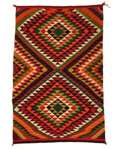 "Navajo Germantown Eyedazzler Blanket c . 1890s, 77.25"" x 50"" (T92341A-1020-001)"