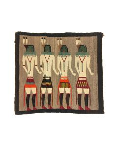 "Navajo Yeibeichei Pictorial Rug c. 1920s, 36"" x 39"" (T92346A-0421-007)"