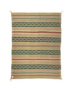 """Large Navajo Pine Springs Rug, Vegetal Dyes, c. 1950, 96.75"""" x 70"""""""