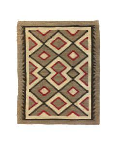 """Navajo Ganado Rug c. 1920s, 72"""" x 55.5"""""""
