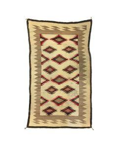"""Navajo Ganado Rug c. 1920s, 96"""" x 56"""""""