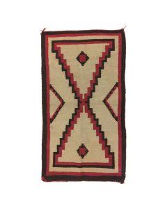 """Navajo Ganado Rug c. 1930s, 55"""" x 30"""""""