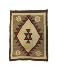 """Navajo Ganado Rug c. 1920s, 46"""" x 35"""""""