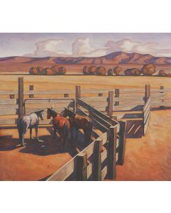 Howard Post - The Neighbor's Three Mares 4/150, Framed, LAST IN THE EDITION (PLV91607-127-002)