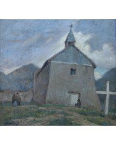 SOLD Wood Woolsey (1899-1970) - Adobe Church