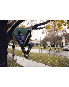 Nathan Benn - Tree Sitting Contest, Cohocton, NY (M90208B-0213-103)