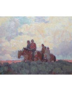 SOLD Edgar Payne (1883-1947) - Navajo Horsemen