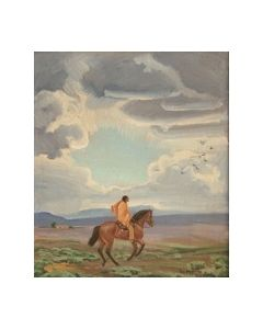 SOLD Ila McAfee (1897-1995) - Racing the Storm