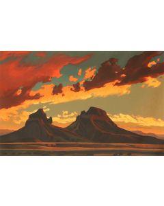 Ed Mell - Volcanic Desert (Lithograph)