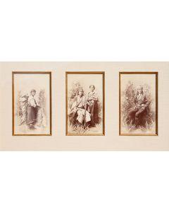 Ben Wittick (1845-1903) - Set of Three Original Albumen Cabinet Cards