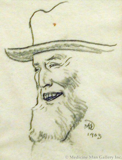 Maynard Dixon (1875-1946) - SOLD - Laughing