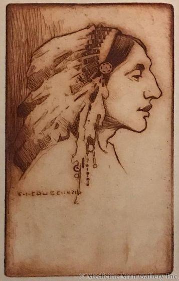 SOLD E. I. Couse (1866-1936) - Pueblo Indian Chief