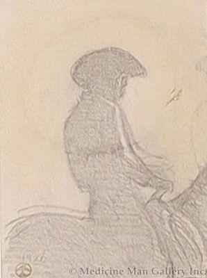 Maynard Dixon (1875-1946) - SOLD - Ghost Rider