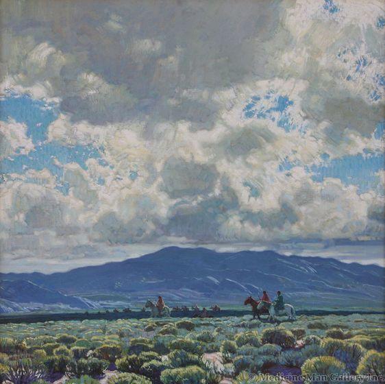 SOLD E. Martin Hennings (1886-1956) - The Rabbit Hunt