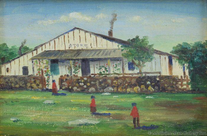 E.A. Burbank (1858-1949) - Indian Trading Store Near Techapi, California