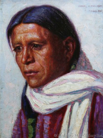 SOLD Henry Balink (1882-1963) - The Zuni Indian