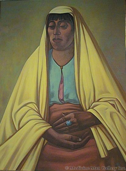 SOLD Emil Bisttram - The Wise One, Taos Pueblo