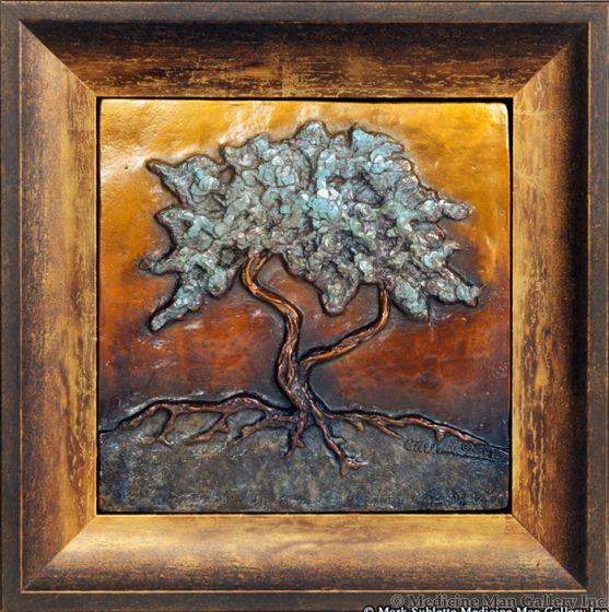Carol Alleman - Quiet Blessing with Oxidized Gold Frame