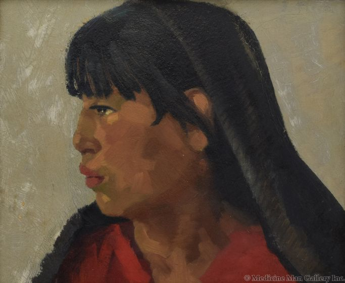 Attributed to Joseph Fleck (1892-1977) - Taos Girl