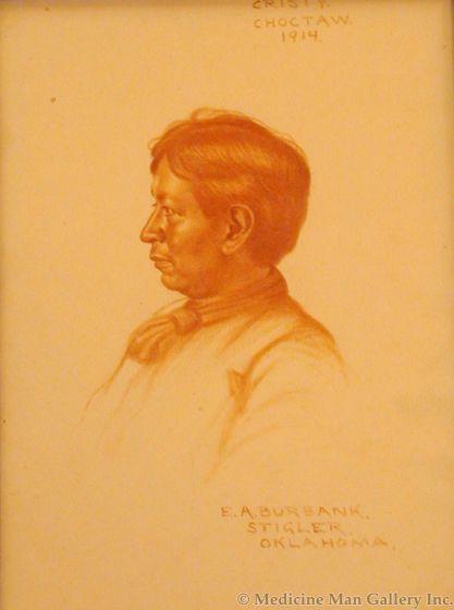SOLD E. A. Burbank (1858-1949) - Cristy, Choctaw, 1914