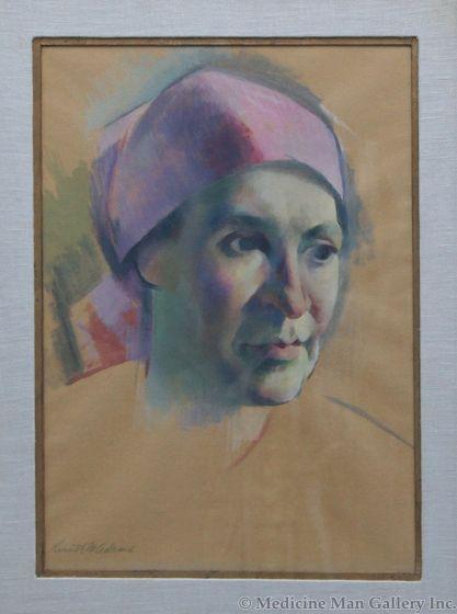 SOLD Kenneth Adams (1897-1966) - Figure in Scarf