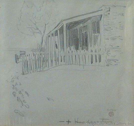 Maynard Dixon (1875-1946) - SOLD - Bar Cross Ranch Headquarters