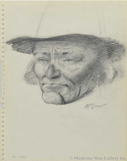 Ralph Brownell McGrew (1916-1994) - Number SK. 691, Yellow Hair's Son (PDC90536-1220-002)
