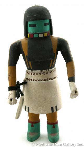 """Hopi Long Hair Kachina, c. 1950-60s, 11"""""""