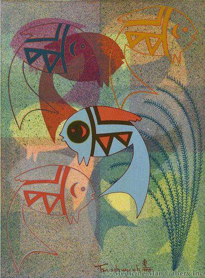 Helen Hardin (1943-1984) (Tsa-Sah-Wee-Eh) - Fish Fancy