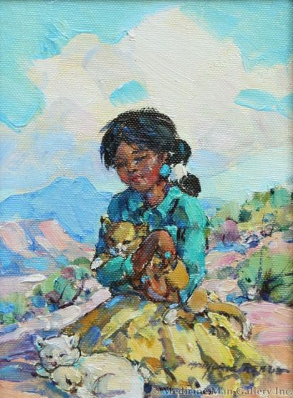 SOLD Marjorie Reed (1915-1996) - Nanahah and Her Cats