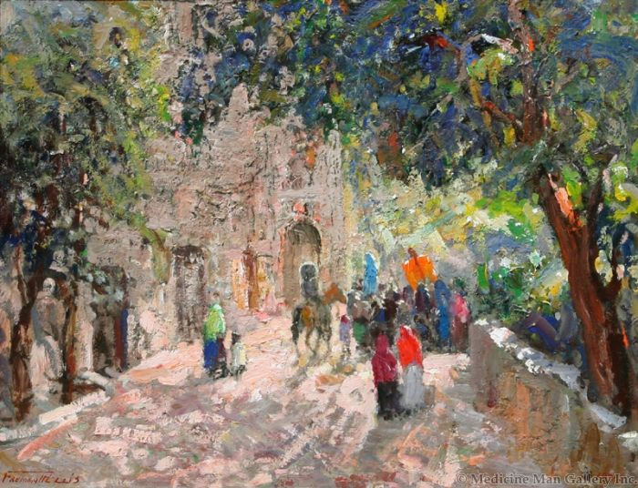 SOLD Fremont Ellis (1897-1985) - Going to the Fiesta