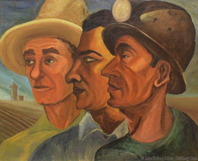 Louis Ribak (1902-1979) - Three Faces