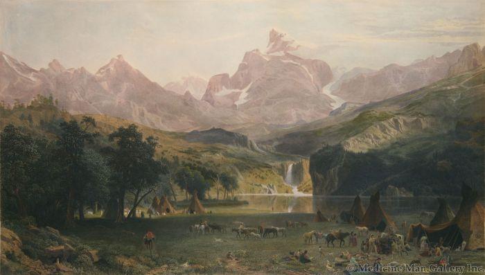 SOLD Albert Bierstadt (1830-1902) - The Rocky Mountains, Lander's Peak