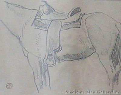 Maynard Dixon (1875-1946) - SOLD - Saddled Horse #1