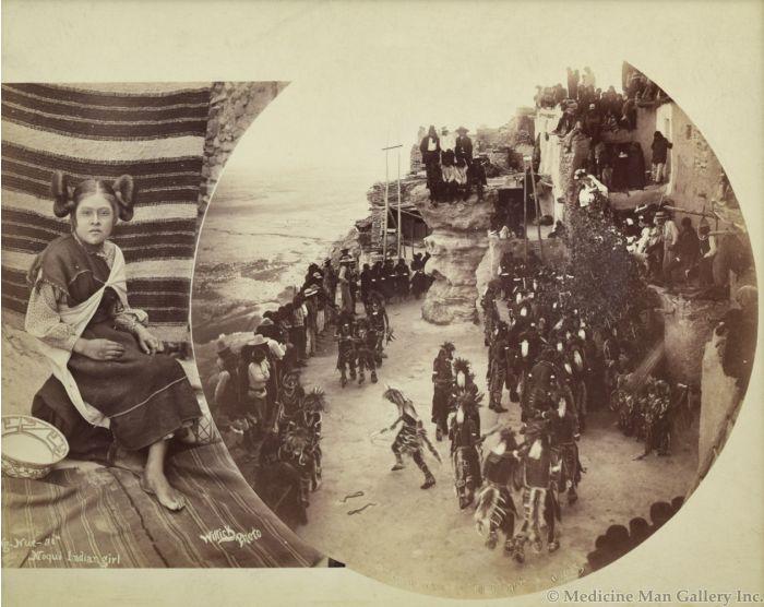 Ben Wittick (1845-1903) - Ng-Nue-Si Moqui Indian Girl & Snake Dance of the Moquis (Hualpi)