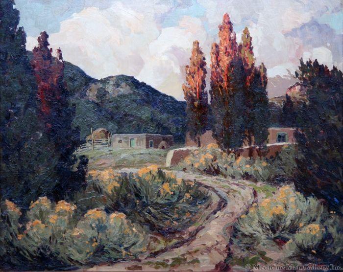 SOLD Fremont Ellis (1897-1985) - Adobe Canyon