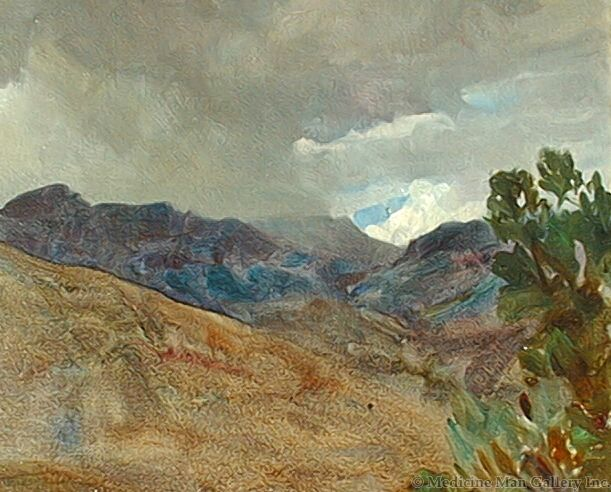SOLD Frank Tenney Johnson (1874-1939) - Jim Mountain