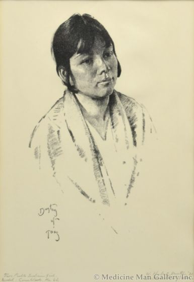 William E. Dunton (1878-1936) - Taos Pueblo Indian Girl (PDC1834)