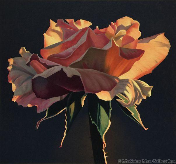 Ed Mell - Dusk Rose (Lithograph)