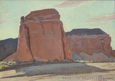 Maynard Dixon (1875-1946) - SOLD - Buttes in Las Vegas