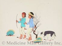 SOLD Betien Yazz - Two Boys and a Dog