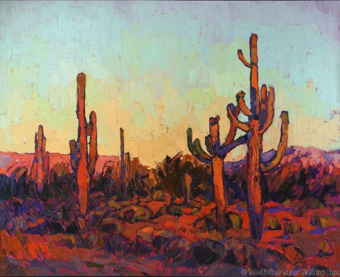 SOLD Erin Hanson - Saguaro Color