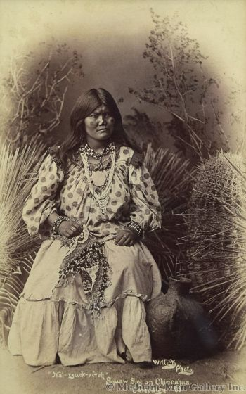Ben Wittick (1845-1903) - Nal-Tzuck-Et-Eh Squaw Spy on Chiricahua Campaign '83