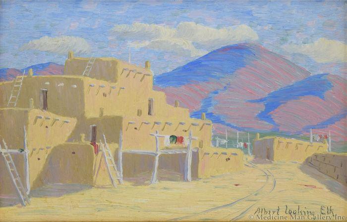 Albert Looking Elk (1888-1941) Taos Pueblo